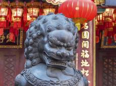 Wong Tai Sin Tempel in de stad Hong Kong, China