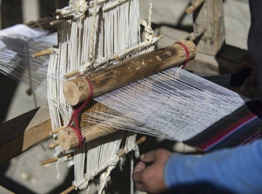 Chinese vrouw aan het werk
